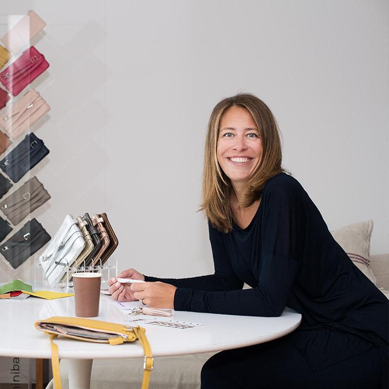 Kathi Goldscheider mit den minibags in allen Farben